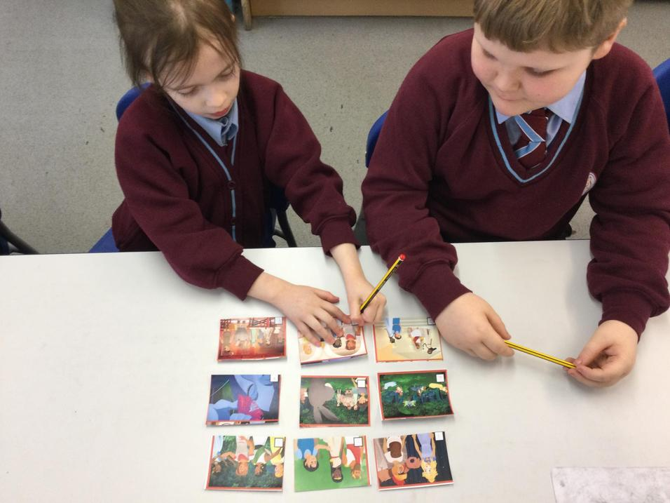 The children sequenced the story.