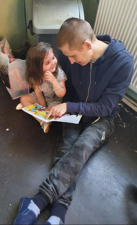 Reading with Daddy...