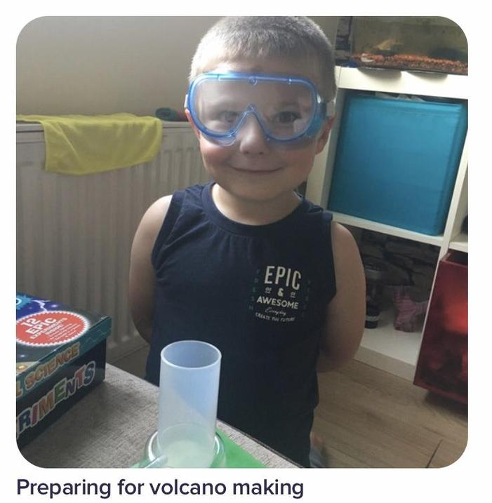 A scientist in the making... 🌋