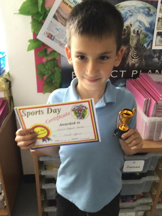 Top scoring boy. Well done!