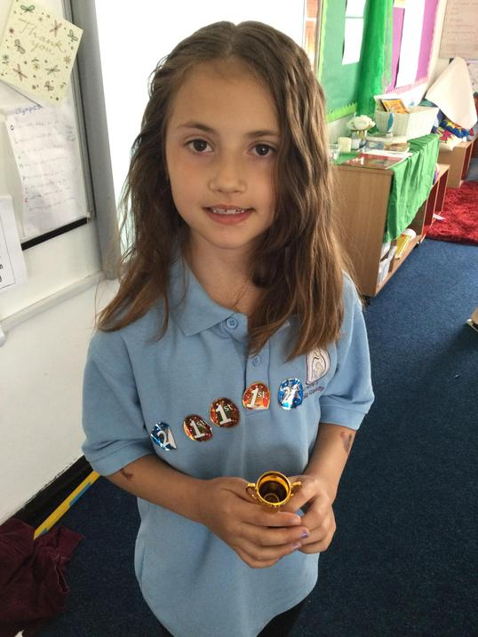 Top scoring girl. Well done!