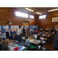 Children showcased their work and made resources