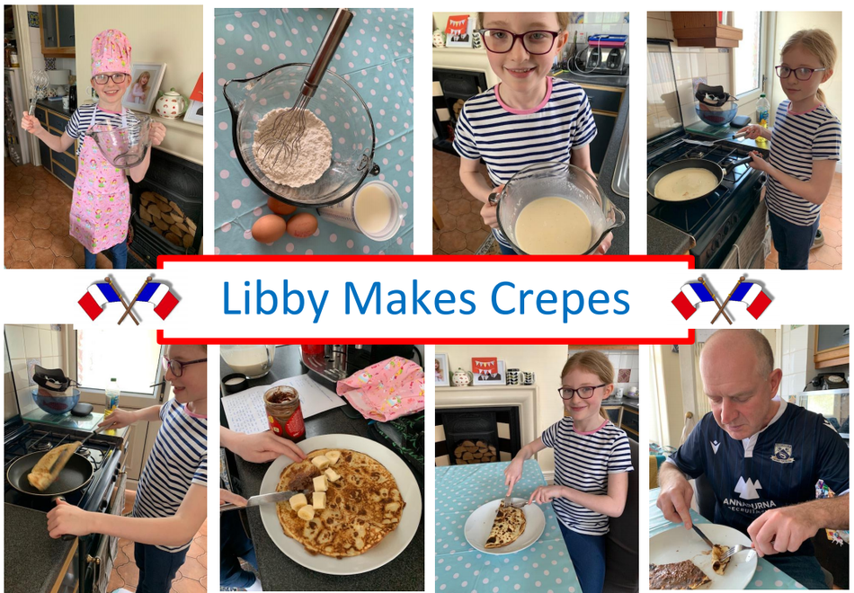 Some of our Year 4s took their French learning home ... well done Libby!