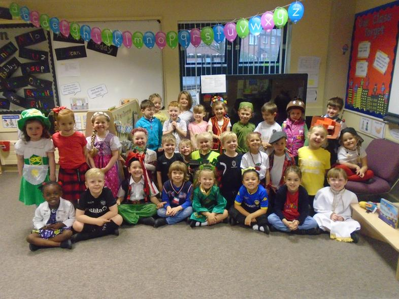 We wore costumes inspired by our heritage.