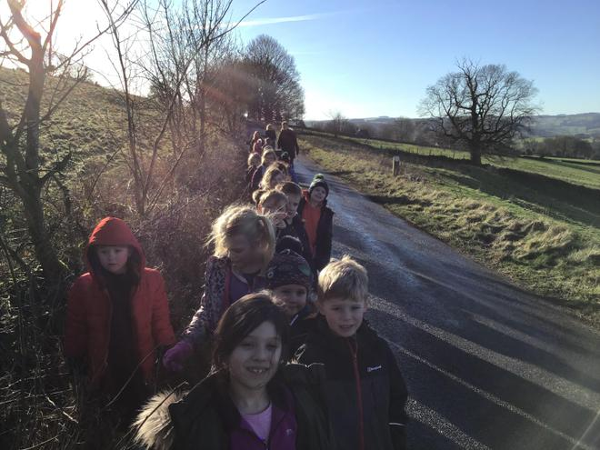 On our way to Forest School...