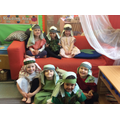 Townspeople in their first nativity