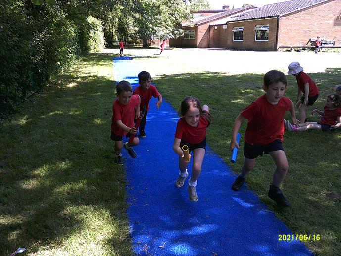 Our new running track