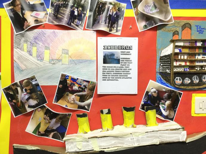 Y6 learnt about the passage of the Titanic