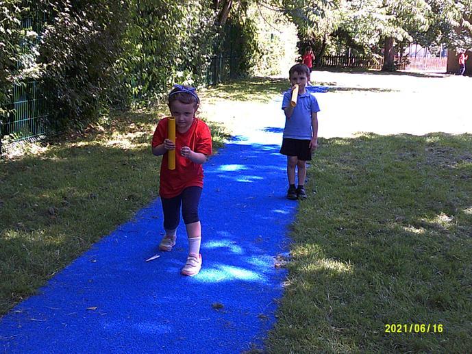 Each class enjoys the track.