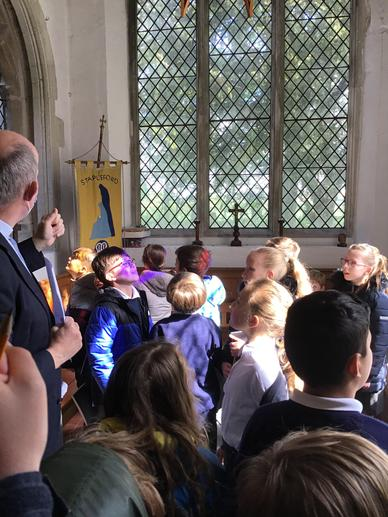 We enjoyed the effects of the stained-glass!
