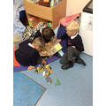 Lovely sharing of a book - the animals said parts!