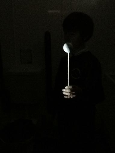 Moon phases with a ping pong ball!