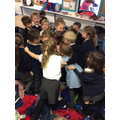 Group hug for one of our friends who has left!