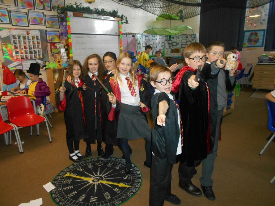 Hogwarts arrive at school.