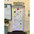 Look at Fox's fantastic 'book door'!