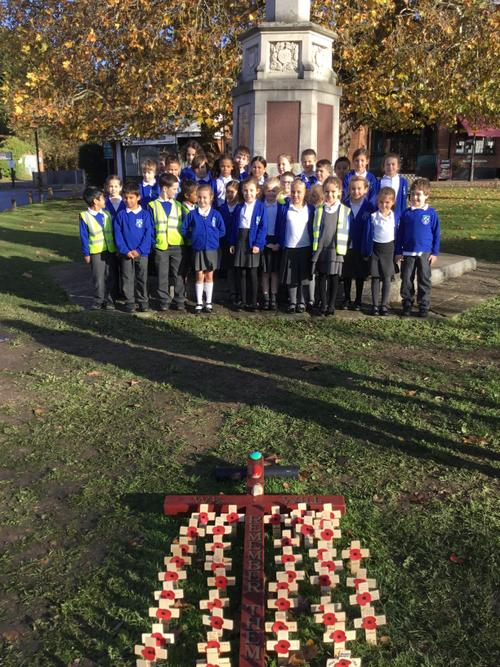 A visit to the war memorial for Remembrance Day