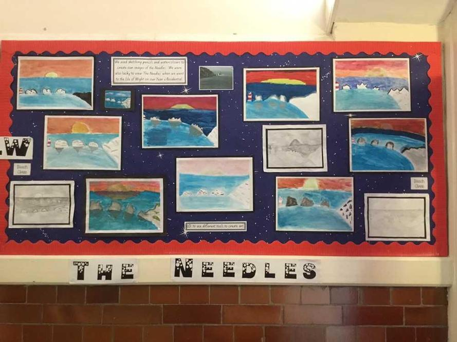 The Needles - Water Colours by Beech Class