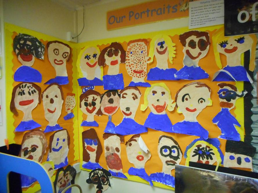 Our wonderful portraits - don't we look smart?