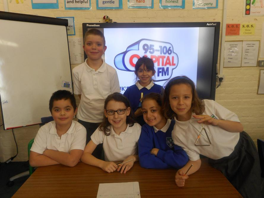 Performing our radio adverts