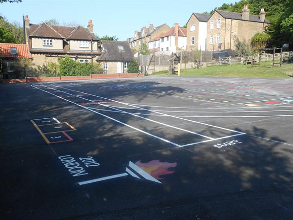 New playground markings are a hit