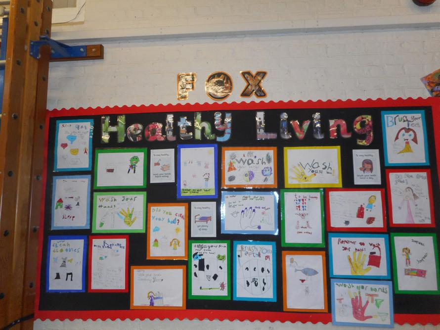 We made posters about how to stay healthy