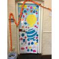 Look at Badger's fantastic 'book door'!