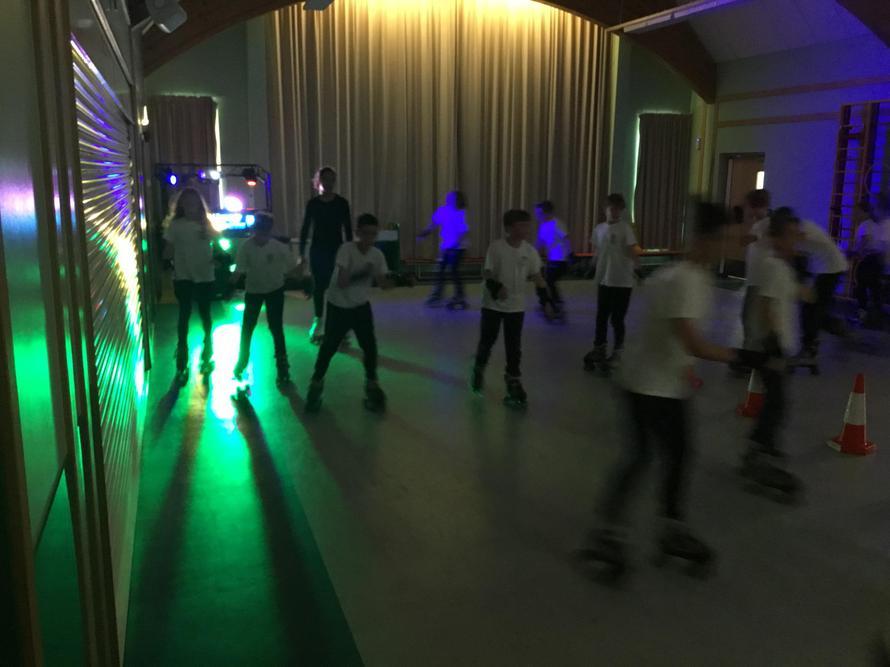 We've been high-speed roller-skaters!