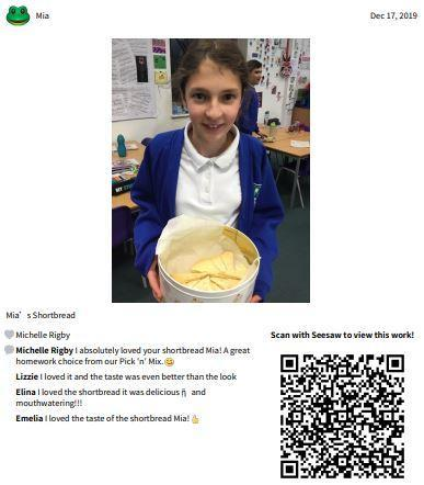 Great British Bake off - Mia's shortbread.