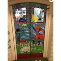 Look at Sycamore's fantastic 'book door'!