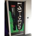 Look at Beech's fantastic 'book door'!