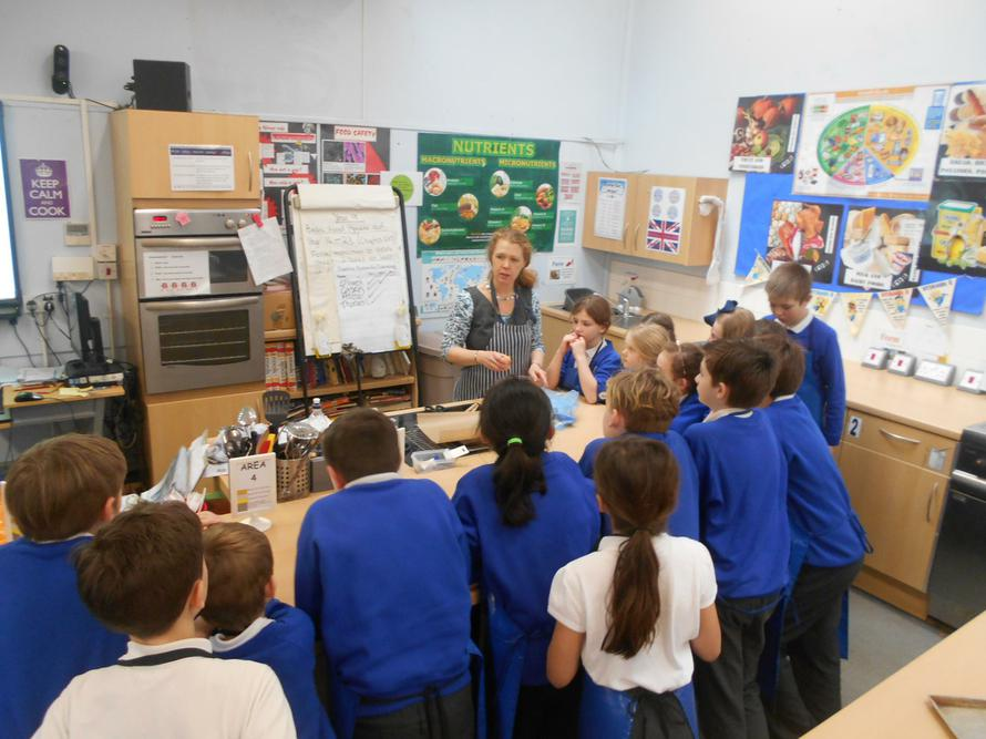 Learning how to make chocolate tray bake.