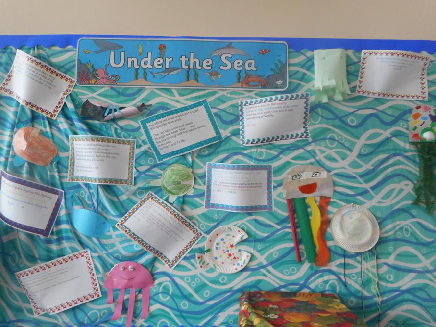 Sea creature poems using 2Publish on the computer