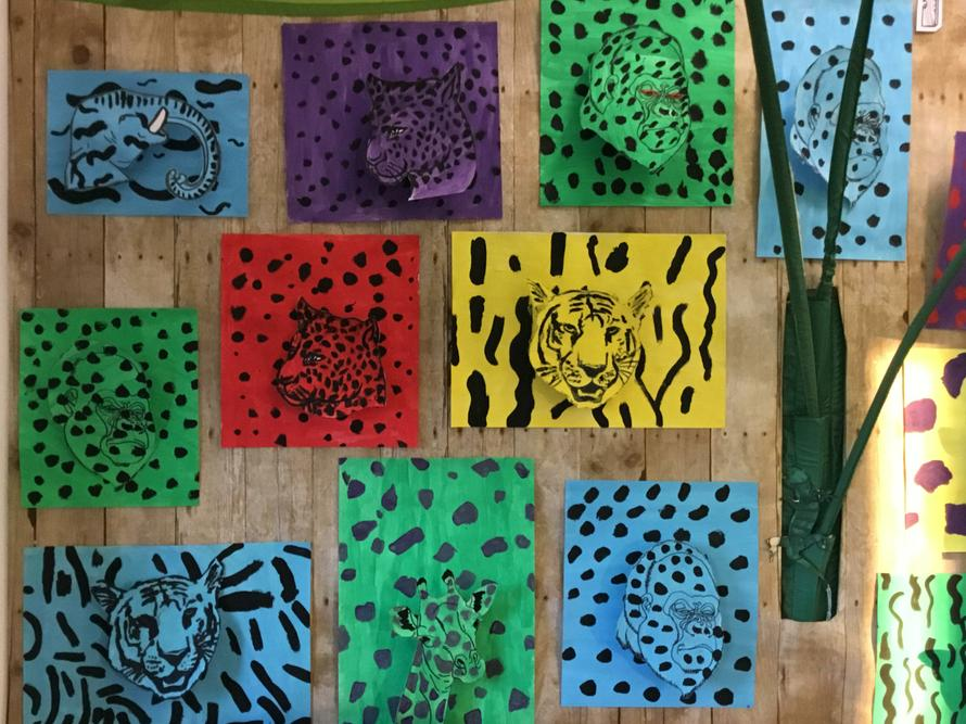 Camouflage painting effects