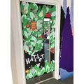 Look at Oak's fantastic 'book door'!