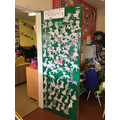 Look at Caterpillar's fantastic 'book door'!