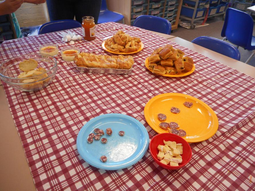 Trying different French food on French Day