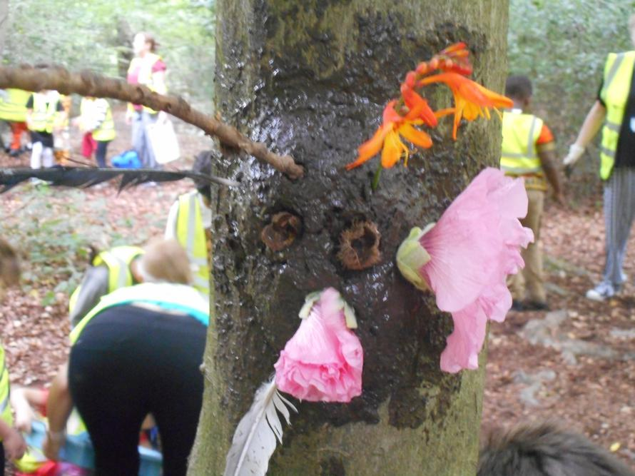 Our mud masks in the forest