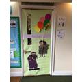 Look at Rabbit's fantastic 'book door'!