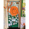 Look at Deer's fantastic 'book door'!