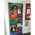 Look at Ash's fantastic 'book door'!