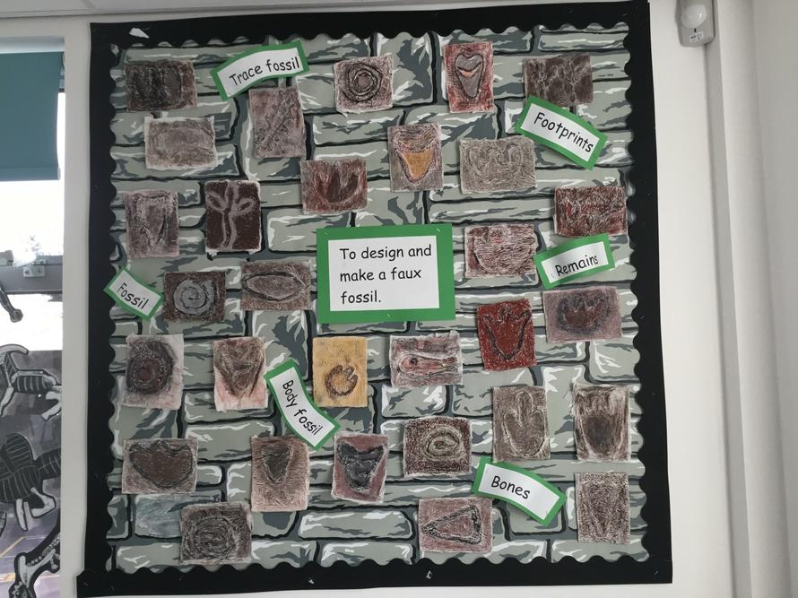 Faux fossils inspired by our fossil hunting.