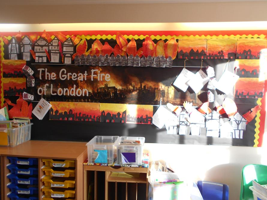 Our Great Fire of London display