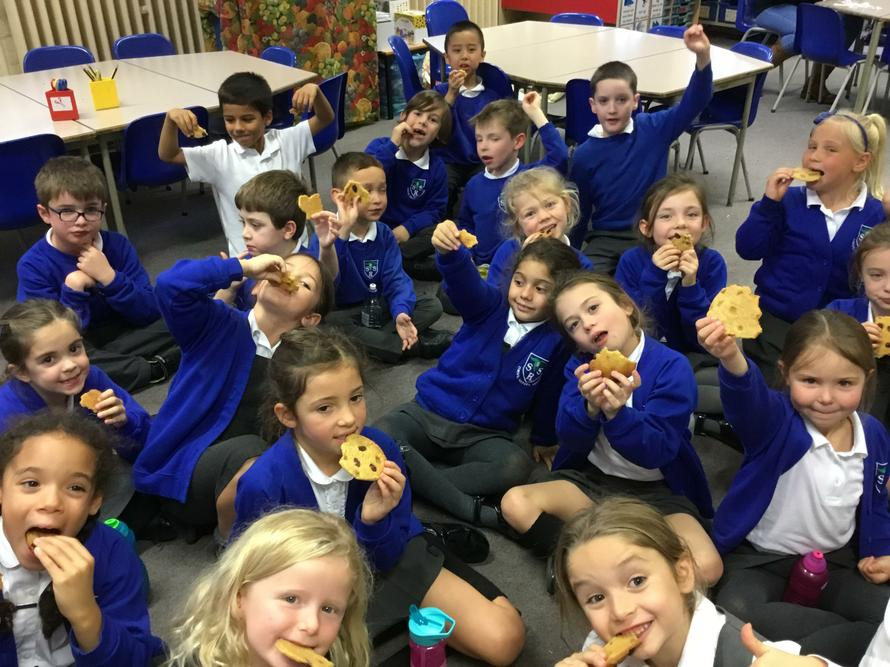 Eating our 'Plague cookies'