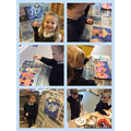 We made some lovely winter crafts.
