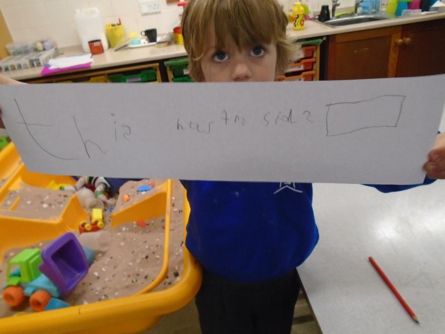 Harry wrote about the properties of a 2d shape.