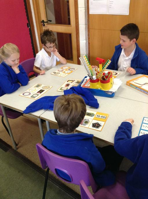 Maths games we bought with cake sale money