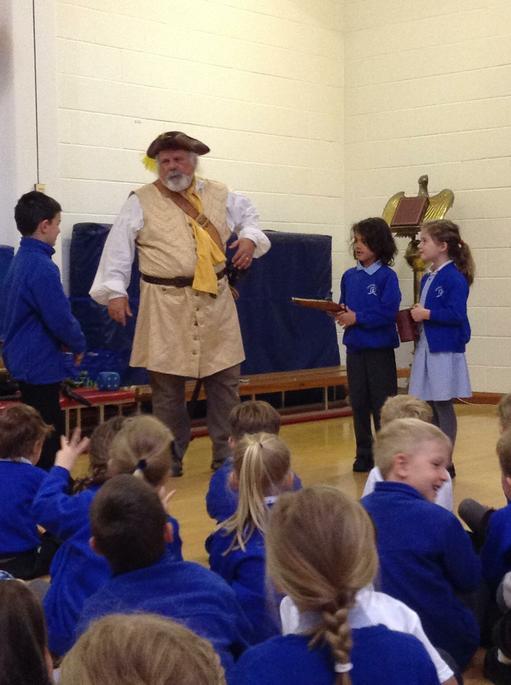 Cap'n Jim telling pirate tales.