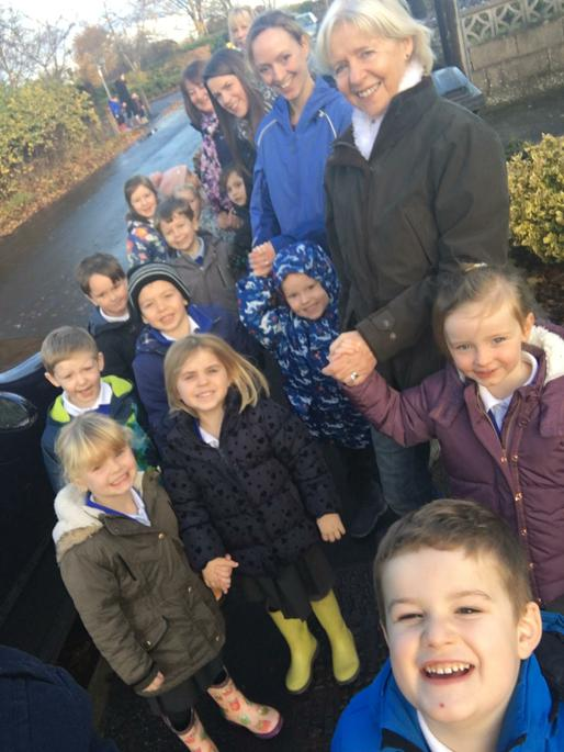 Our wonderful children, staff and families set off
