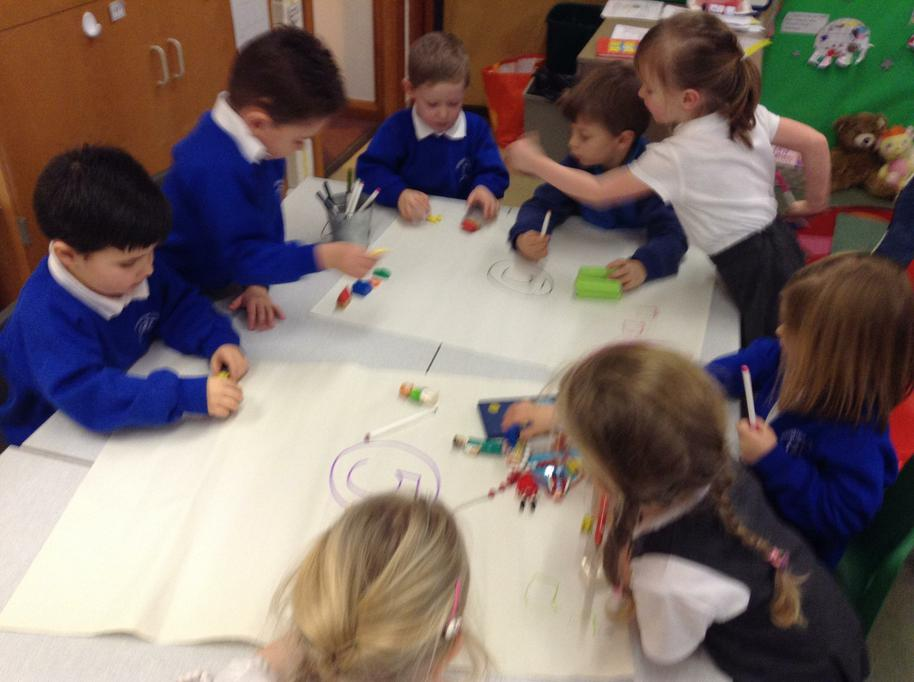 Working together to record findings in Maths
