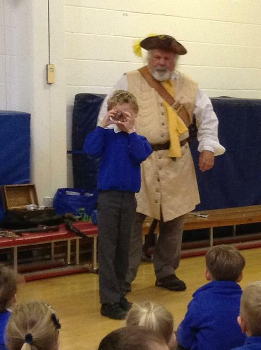 A visiting pirate! What has he given Sam?